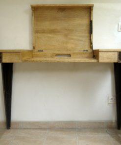 Console de bureau en bois de Fraké