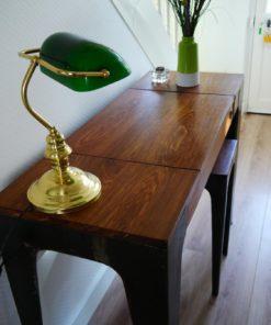 Console de bureau en bois de Véné et tabouret