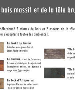 Essences de bois mobilier Gazelle