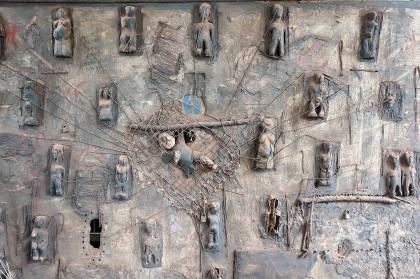 Les peintures africaines inspirée de la terre et du Vaudou d'Aké O'Lokan