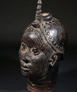 Tête en bronze du royaume d'Ifé des Yorubas au Nigéria