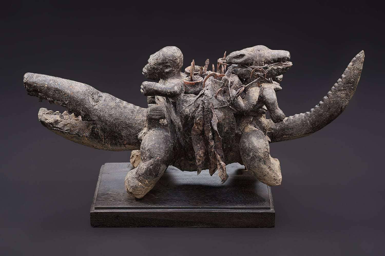 Crocodile de féticheur vaudou