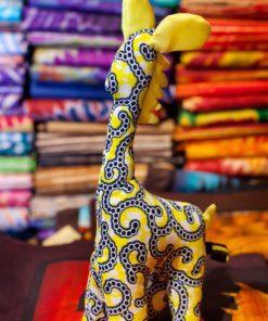 Animaux tissu girafe