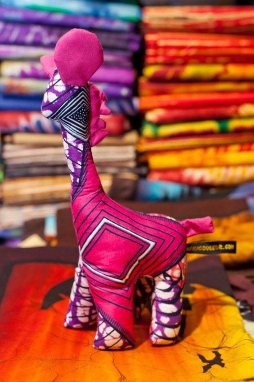 Animaux tissus girafe