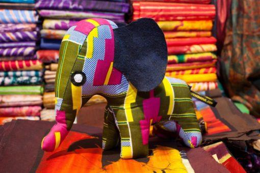 Animaux tissus éléphant