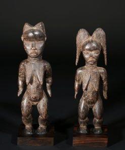 Statuette africaine couple Dan Côte d'Ivoire