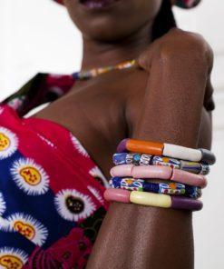 bracelet pâte de verre sable