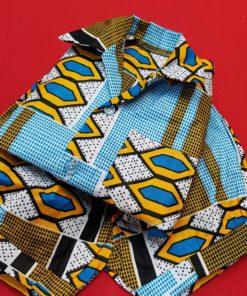 Ensemble garçon bébé en tissu africain
