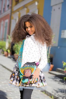 Sac à main poupée et jupe en wax africain