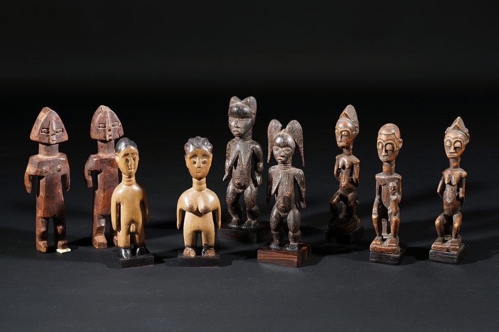 Groupe de jumeaux éwé du Togo et Ashanti du Ghana