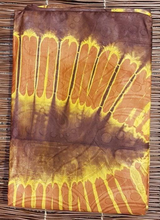 Bazin marron chocolat brun feuille de palmier