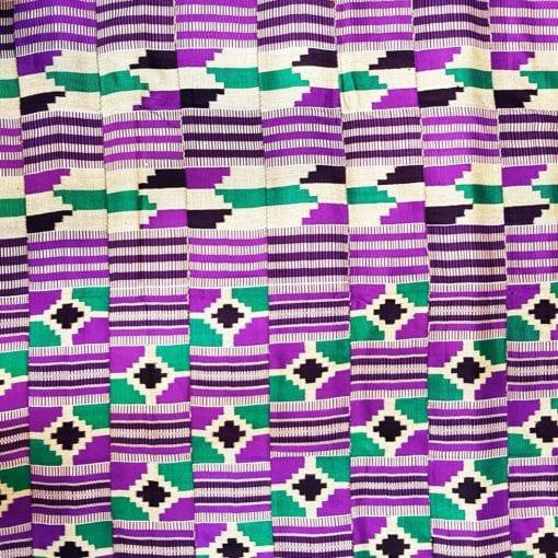 Kenté crème violet noir vert
