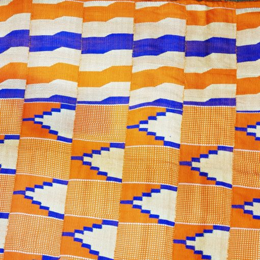 Kenté crème orange bleu