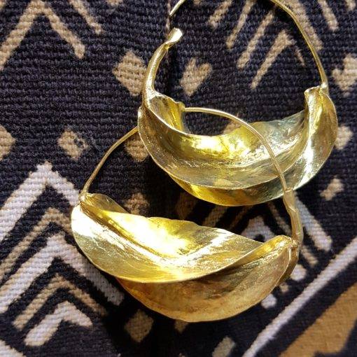 Boucles d'oreilles peul et bogolan Mali