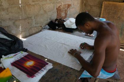 Dessin préparatoire du batik africain
