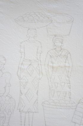 Dessin préparatoire d'un batik africain