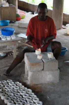 Tournage des grosses perles de verre
