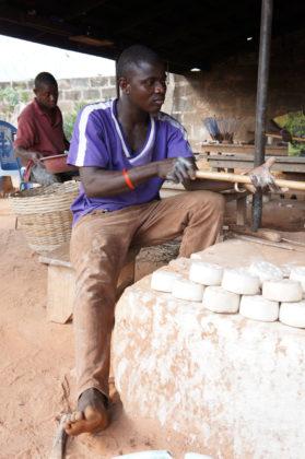 Un artisan au travail