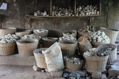 Stockage des moules en argile