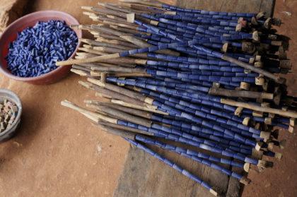 Les perles africaines de verre