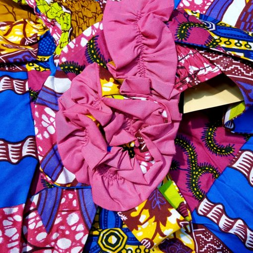 robe en tissu africain wax rosette