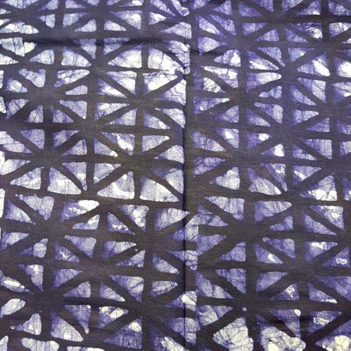 Tissu calicot bleu indigo vitrail