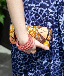 Pochette wax et bracelet Mopti