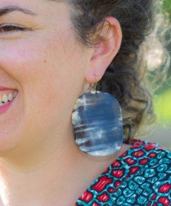 Boucles d'oreilles corne