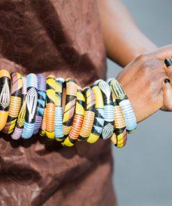 bracelet sénégalais plastique recyclé