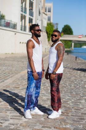 Pantalons africains homme en bazin et calicot teintés à la main