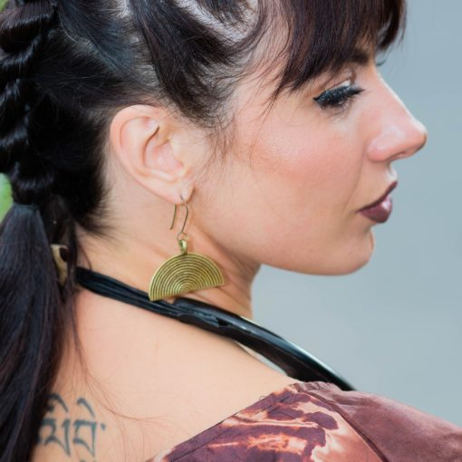 Boucles d'oreilles en bronze Akan