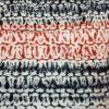 Tissu calicot blanc, rouge et noir Scarabée