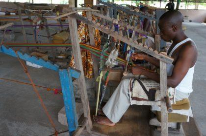 Tissage de Kenté au Ghana