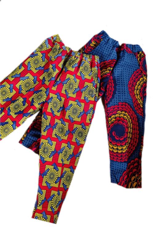 Pantalon en tissu africain wax
