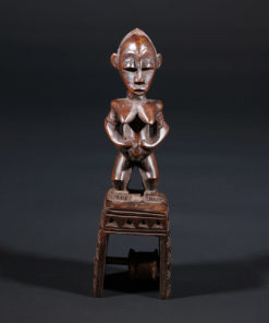 Poulie de métier à tisser Baoulé de Côte d'Ivoire
