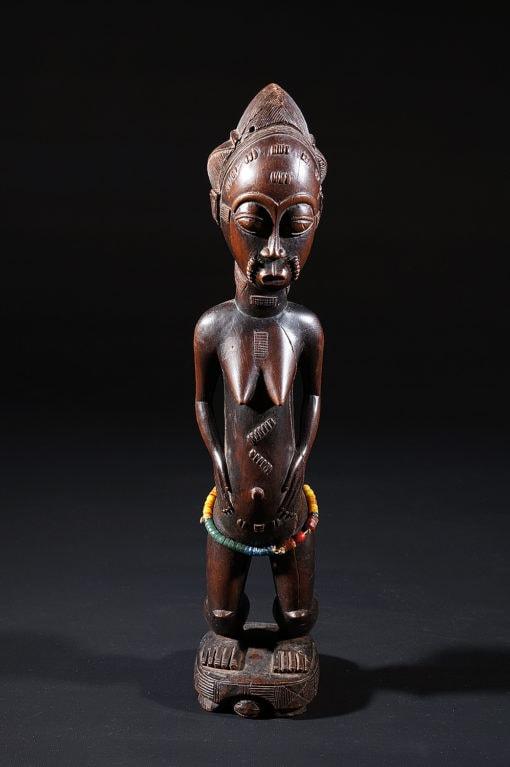 Statuette féminine Baoulé