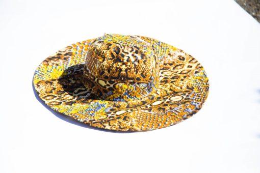 Chapeau de soleil en tissu africain wax